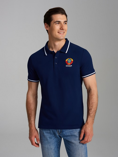 polo ussr blue L